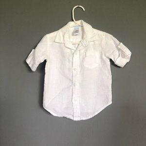 Janie and Jack baby button down shirt, size 6-12M